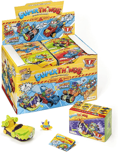 superzings superthings spy jets coches caja